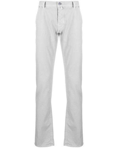 Szare spodnie z paskiem bawełniane Jacob Cohen