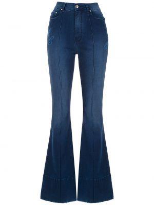 Расклешенные джинсы синие на пуговицах Amapô
