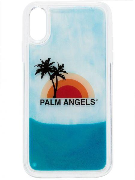 Białe etui na okulary z printem Palm Angels