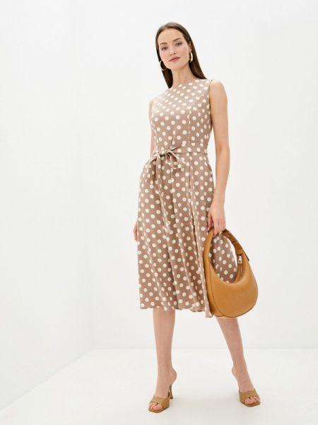 Повседневное платье бежевое весеннее Rosso-style