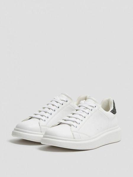 Кроссовки белый низкие Pull&bear