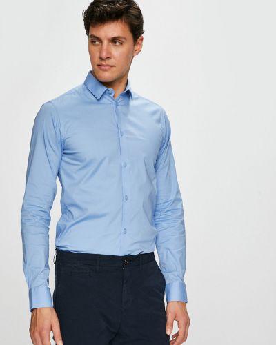 Рубашка с длинным рукавом тонкая синий Casual Friday