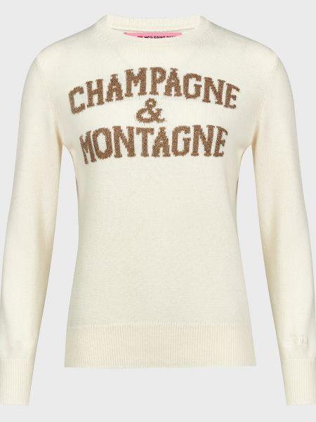 Белый шерстяной свитер Mc2 Saint Barth