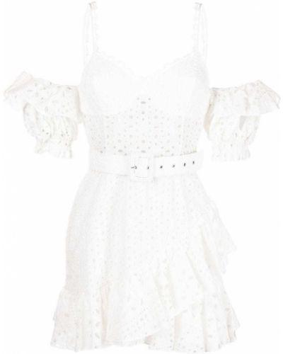 Платье с V-образным вырезом - белое Charo Ruiz Ibiza