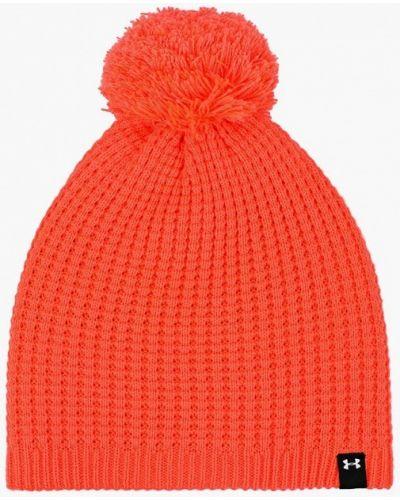 Оранжевая шапка осенняя Under Armour