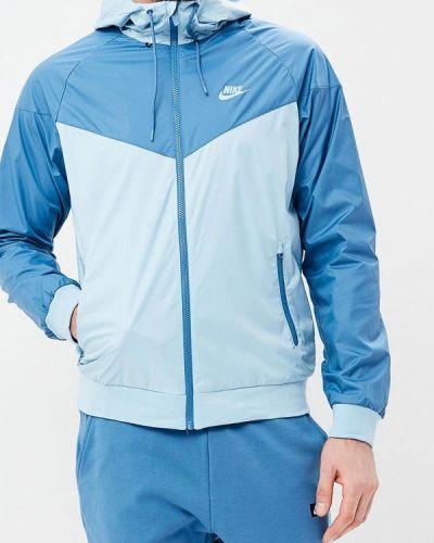 Голубая ветровка Nike