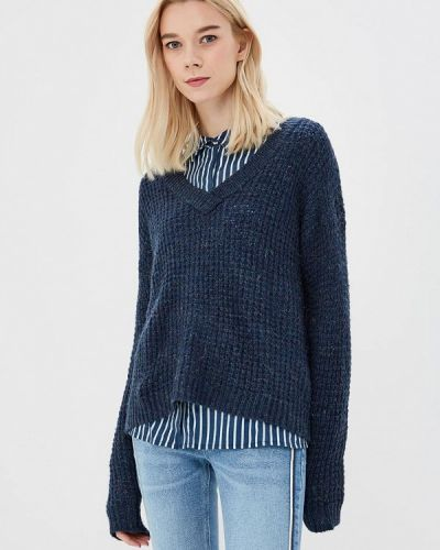Синий пуловер Jacqueline De Yong