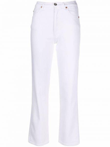 Белые прямые джинсы на шпильке классические 3x1