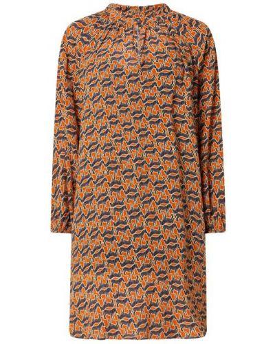Pomarańczowa sukienka z wiskozy Risy & Jerfs