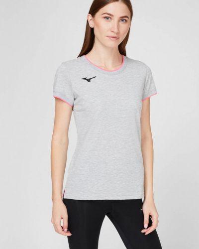 Серая спортивная футболка Mizuno