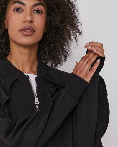 Czarna bluza z kapturem bawełniana Dkny