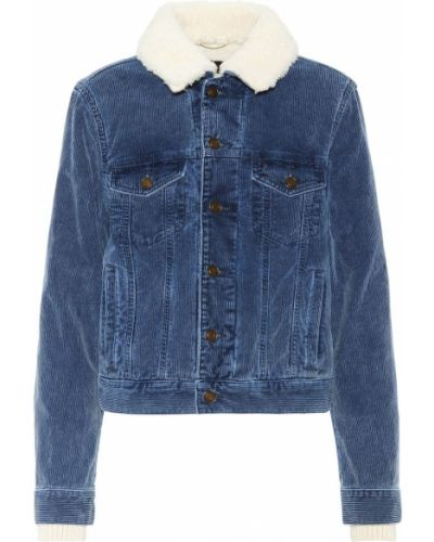 Куртка вельветовая синий Saint Laurent