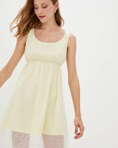 Прямое желтое платье Прованс