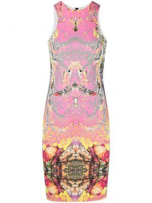Облегающее розовое платье без рукавов Just Cavalli