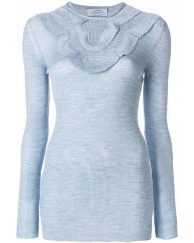 Синий свитер Prada