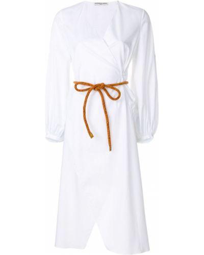 Рубашка с поясом белая Veronique Leroy