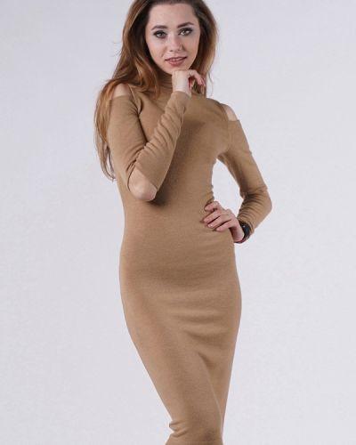 Платье осеннее бежевое Evercode