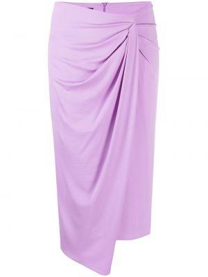 Fioletowa spódnica z wysokim stanem asymetryczna Pinko