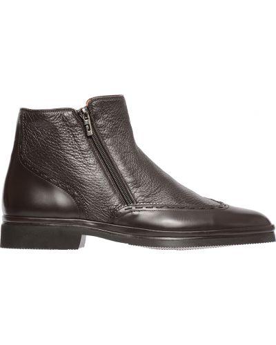 Кожаные ботинки осенние коричневый Pakerson