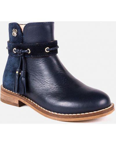 Ботинки темно-синий кожаные Mayoral