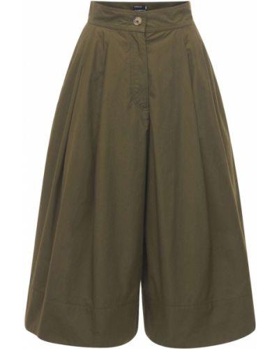 Зеленые хлопковые шорты с карманами Moncler Genius