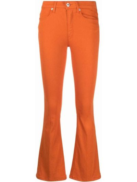 Оранжевые расклешенные джинсы на молнии Dondup