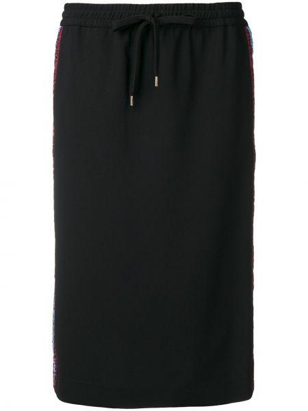 Черная прямая юбка карандаш из вискозы N°21