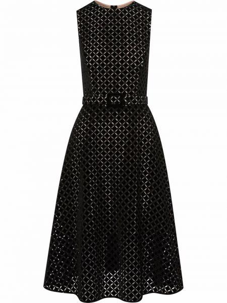 Шелковое платье - черное Oscar De La Renta
