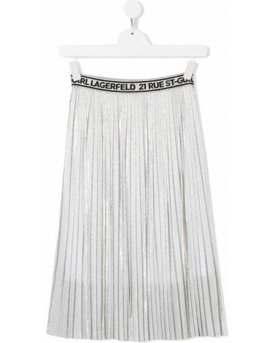 Трикотажная плиссированная юбка с подкладкой Karl Lagerfeld Kids