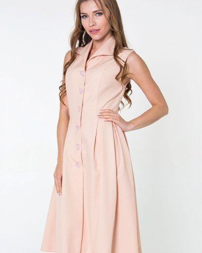 Розовое платье миди Bernetta