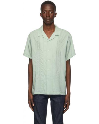 Открытая льняная рубашка с короткими рукавами Double Rainbouu