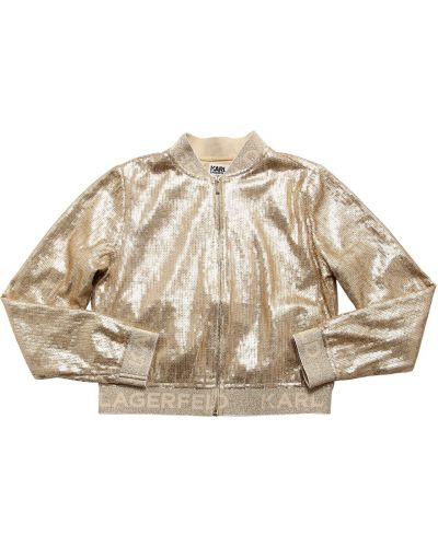Куртка с воротником с пайетками золотая Karl Lagerfeld