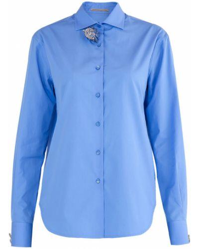 Блузка прямая с брошью Ermanno Scervino