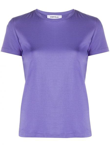 Koszula z krótkim rękawem karmazynowy fioletowy Enfold