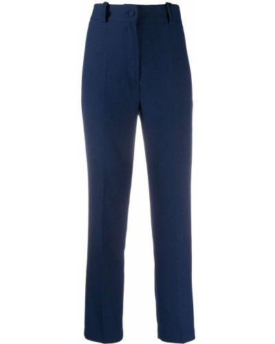 Синие облегающие брюки на молнии Hebe Studio