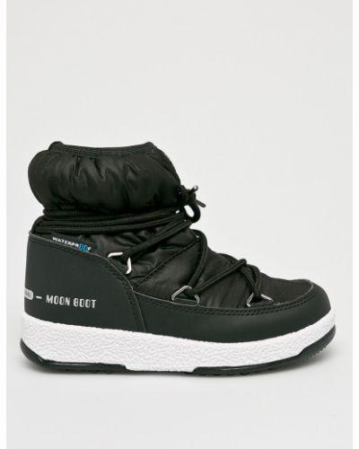 Ботинки черные на шнуровке Moon Boot
