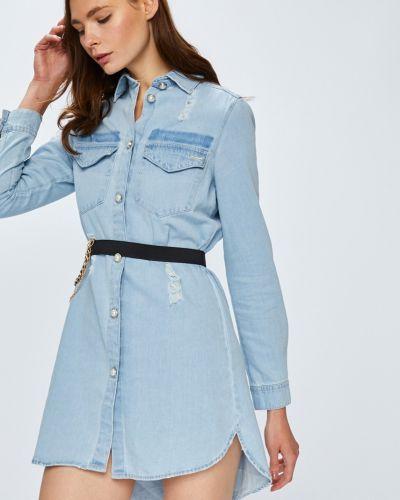 Платье мини на пуговицах прямое Guess Jeans