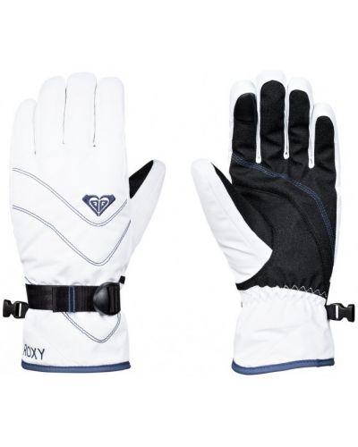Белые перчатки яркие Roxy