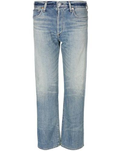 Прямые джинсы укороченные с эффектом потертости Citizens Of Humanity