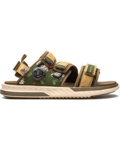 Z paskiem zielony skórzany sandały New Balance