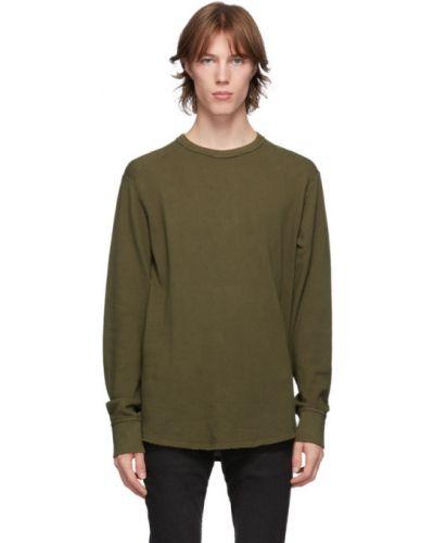Z rękawami zielony koszula z mankietami z kołnierzem Rag & Bone