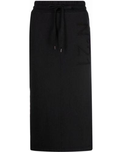 Платье с вышивкой - черное N°21