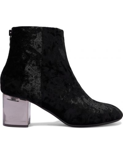Czarne ankle boots na obcasie skorzane Rag & Bone