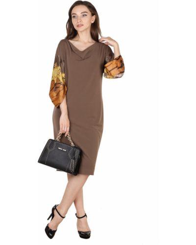 Платье с узором - коричневое Roberto Cavalli
