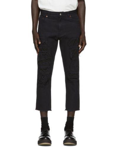 Черные джинсы стрейч с заплатками Vyner Articles