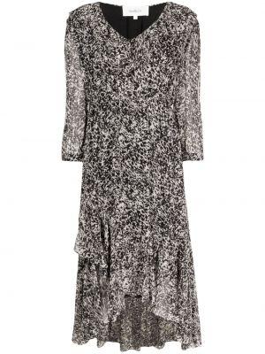 Платье миди с принтом - черное Ba&sh
