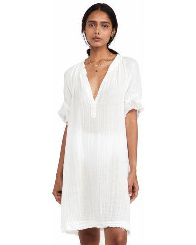 Платье с рукавом реглан - белое 9seed