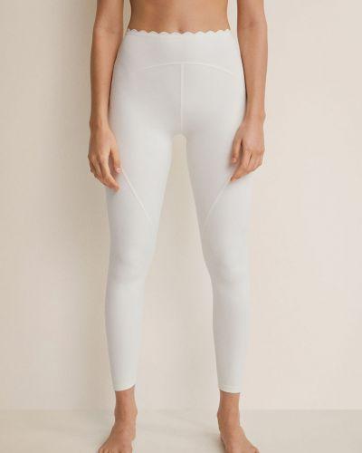 Białe spodnie Mango