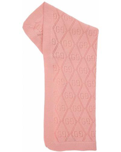 Bawełna bawełna różowy szalik Gucci