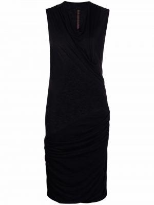 Платье мини короткое - черное Rick Owens Lilies